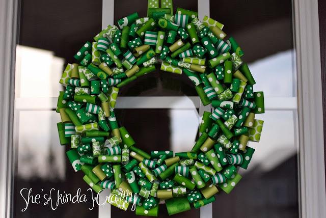 Fabulous ribbon wreath for front door.