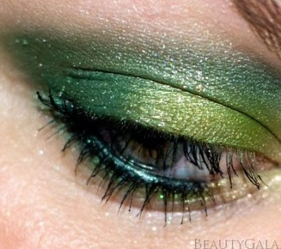 Forest Fury eye makeup for St. Patricks day.