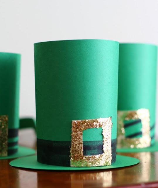 Leprechaun hats craft for kids.