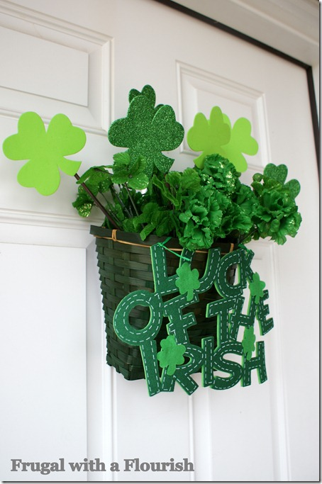 Luck of irish door decoration for St. Patricks day.