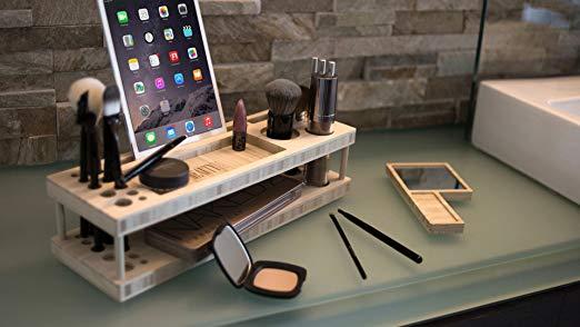 Makeup organizer station.