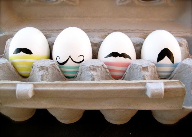 Mustache easter eggs.