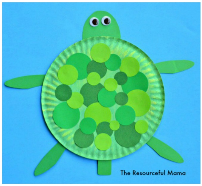 Paper plate turtle.