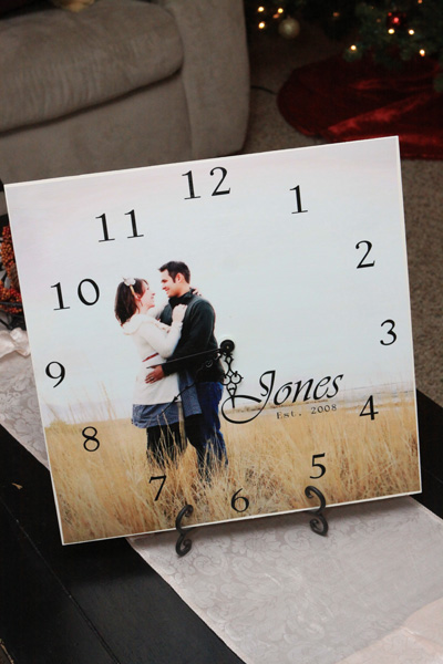 Personalized picture clock.