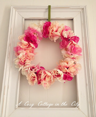 Pretty floral wreath for Valentine day.