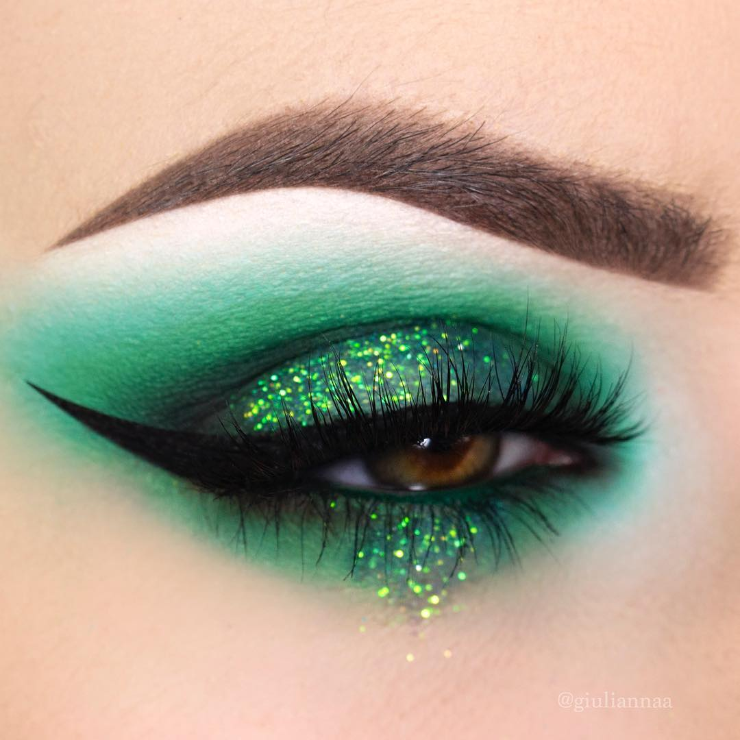 Rocking green eye makeup for St. Pattys day.