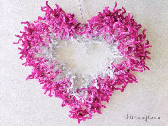 Sassy heart wreath.