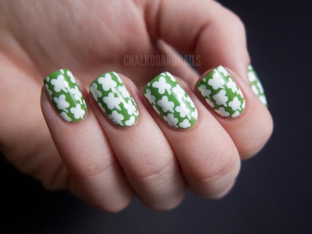 Shamrock nails.
