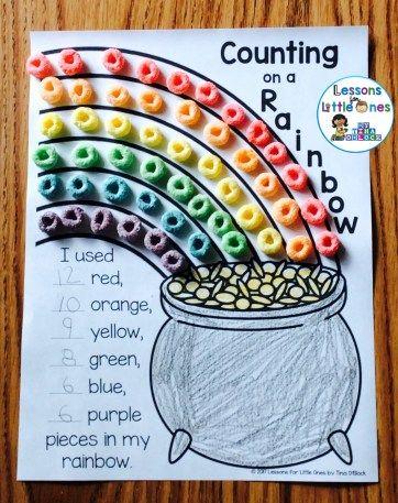 Smart rainbow maths activity for kids.