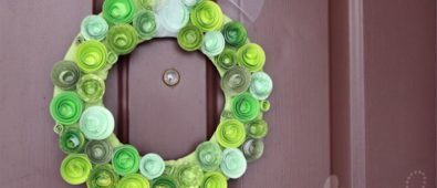 Spiral paper wreath.