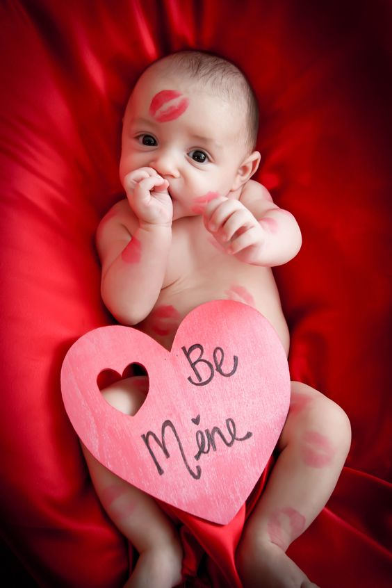 Super cute baby photoshoot for Valentines day.