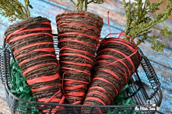 Amazing twine carrots for Easter.