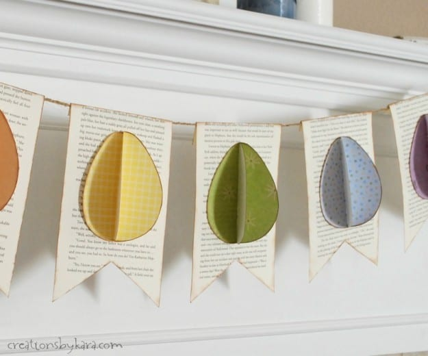 Awesome Easter egg banner via old book paper.