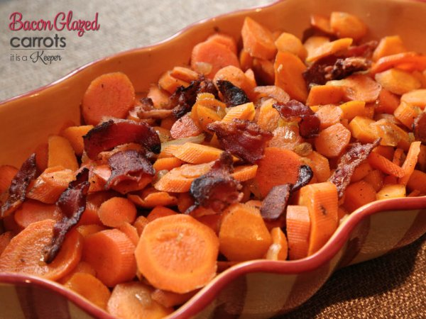Bacon glazed carrots.