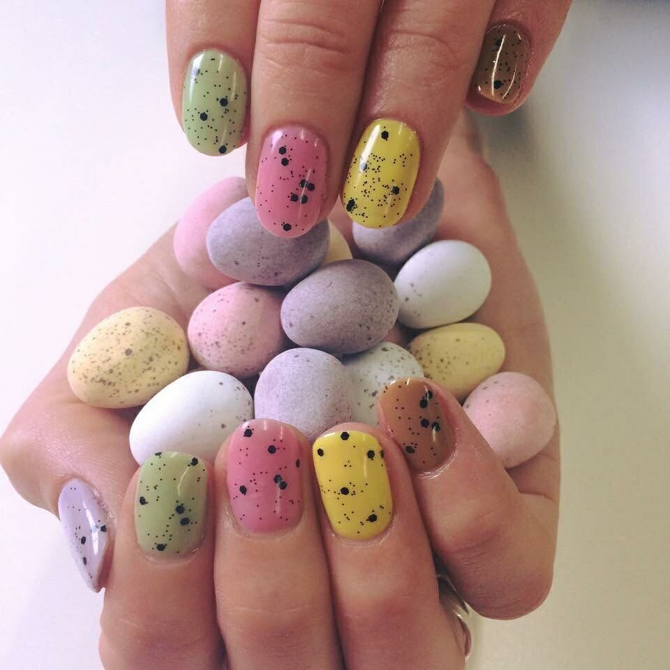 Beautiful Simply Egg-cellent Nails.