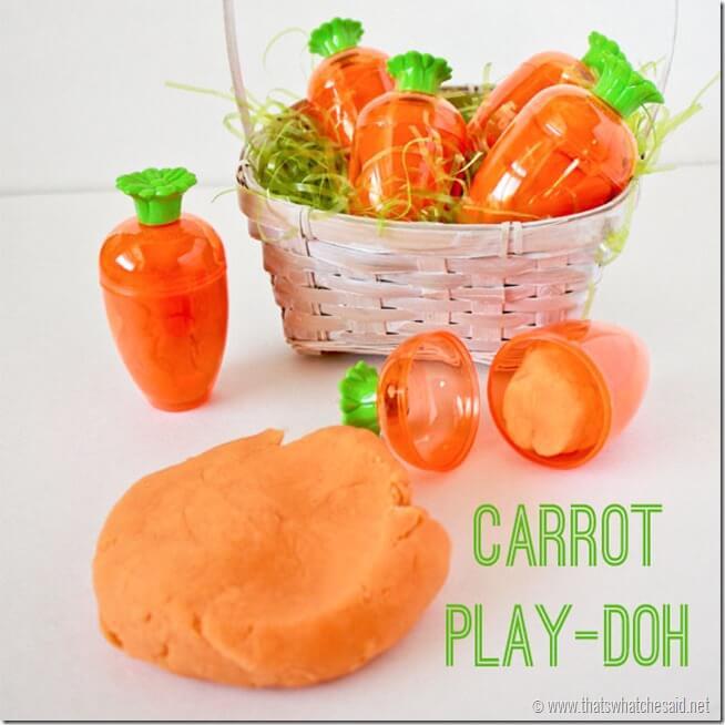 Carrot play-dough.