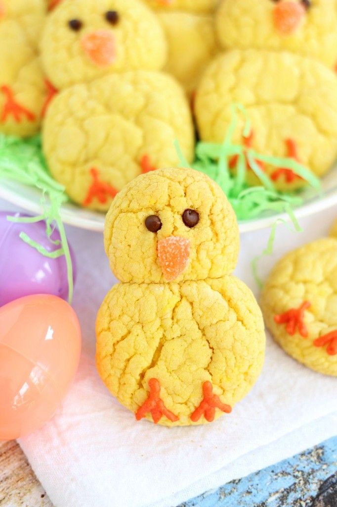 Chick lemon cookies for easter.