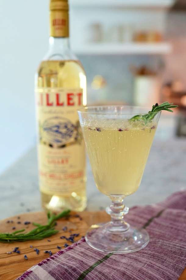 Classic lavender lillet cocktail.