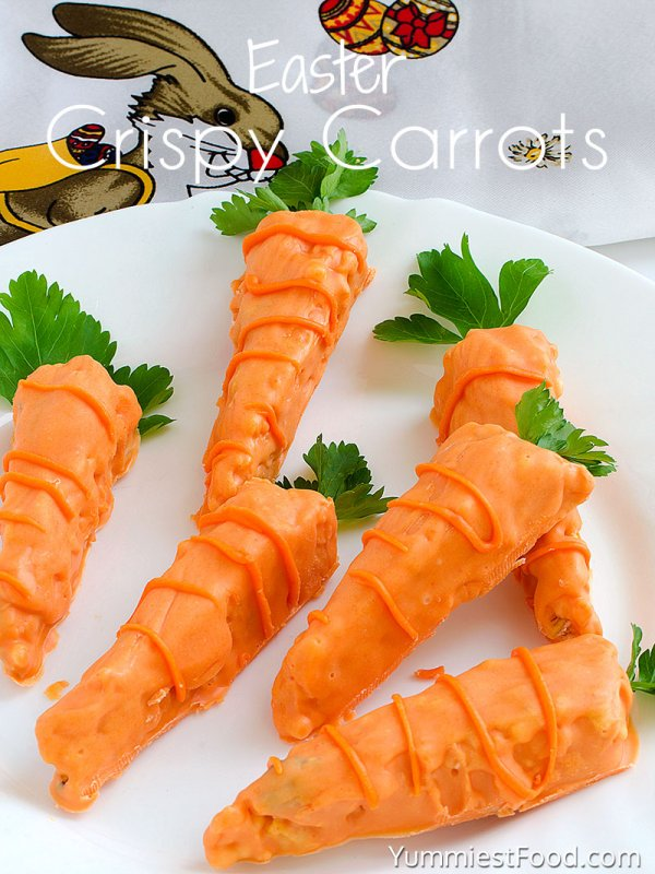 Crispy carrots for Easter.