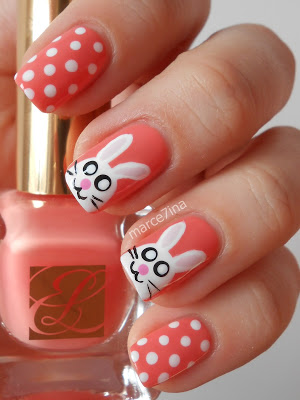 Cute polka Dots and Peter Cottontail Nails.