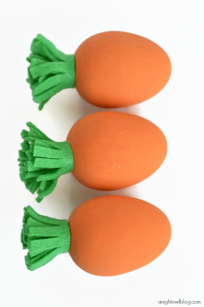 DIY carrot easter eggs.