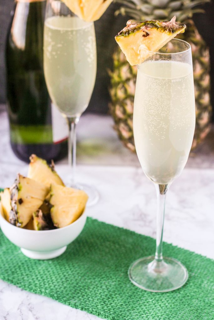Delicious pineapple mimosas.