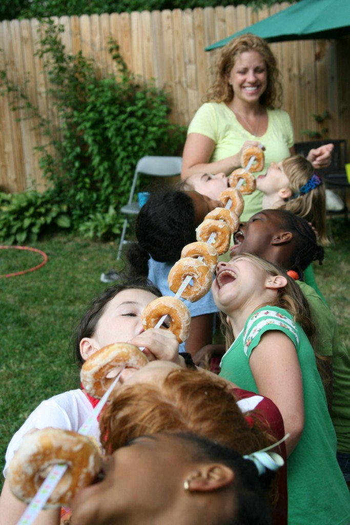 Donuts on string game for every member of family.