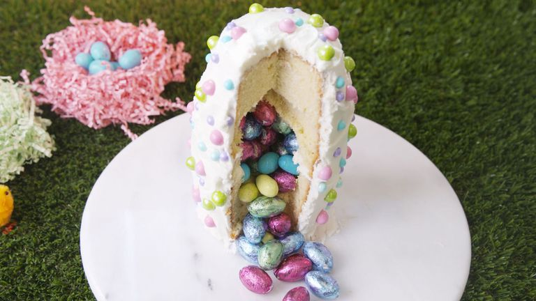 Easter egg surprise cake.