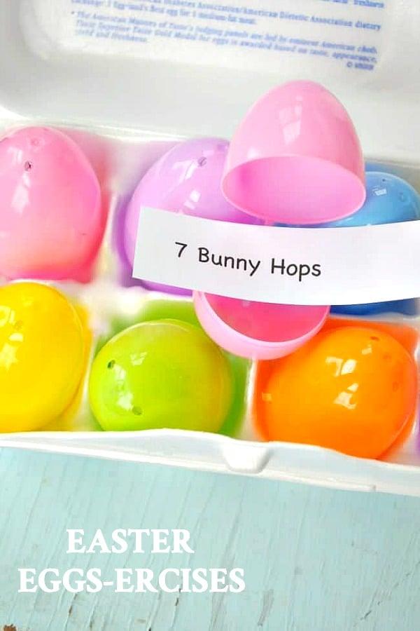 Easter eggs ercises activity for kids.