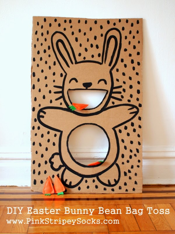 Entertaining diy Easter bunny bag toss.