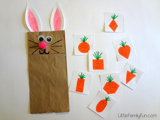 Feed the bunny - learning shape activity.