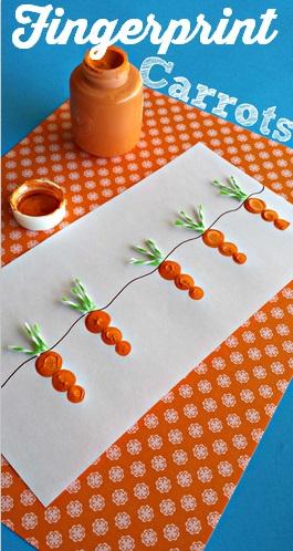 Finger prints carrots.