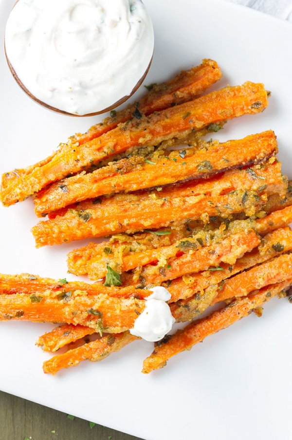 Garlic parmesan carrot fries.