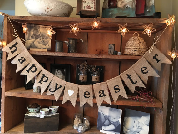 Happy Easter bunting.