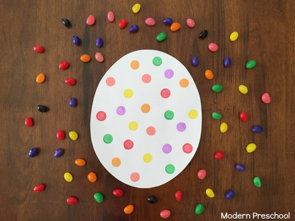 Jelly beans color matching game for Easter.