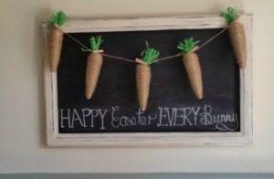 Jute Easter carrot garland.
