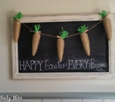 Jute Easter carrot garland.