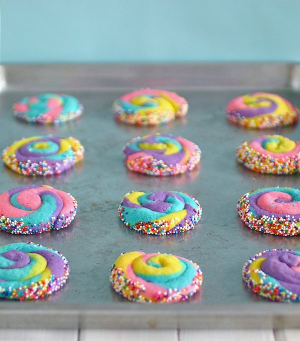 Multicolor Dr. Seuss cookies.