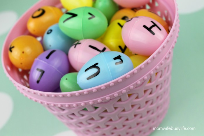 Nice Easter egg letter matching game.