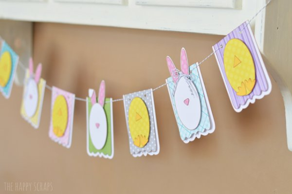 Nice bunny and chick Easter banner.