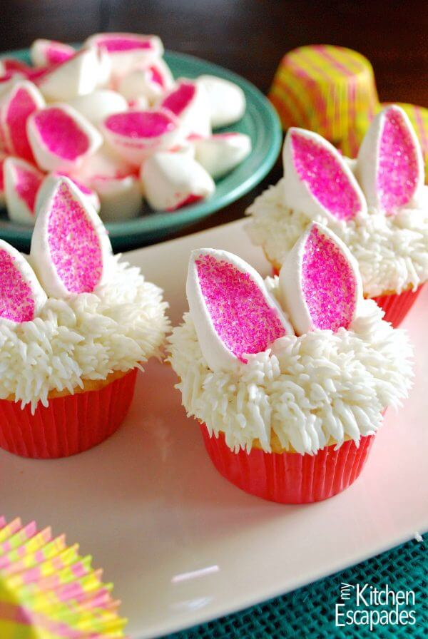 Nice easter bunny cup cakes.