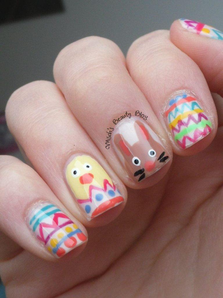 Nice easter nail art.