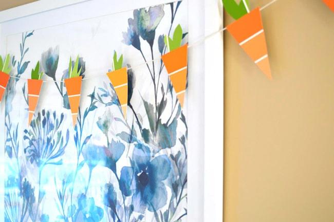 Paper carrot garland.