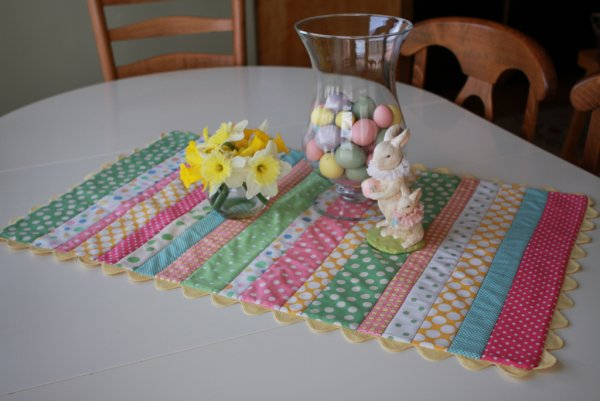 Patch work table runner.