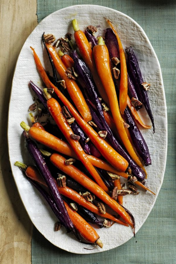 Pecan pie glazed carrots.