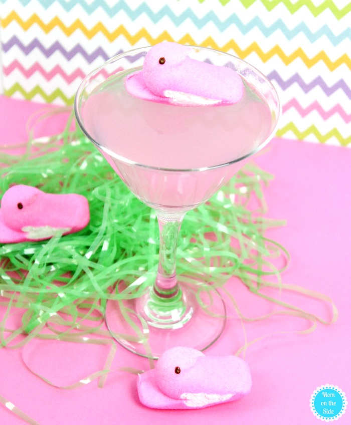 Pink lemonade peeps vodka.