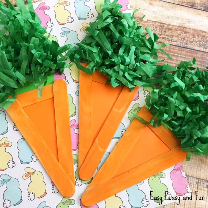 Popsicle sticks carrot for kids.