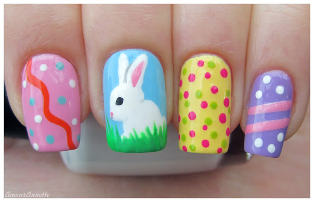 Pretty Easter nails.