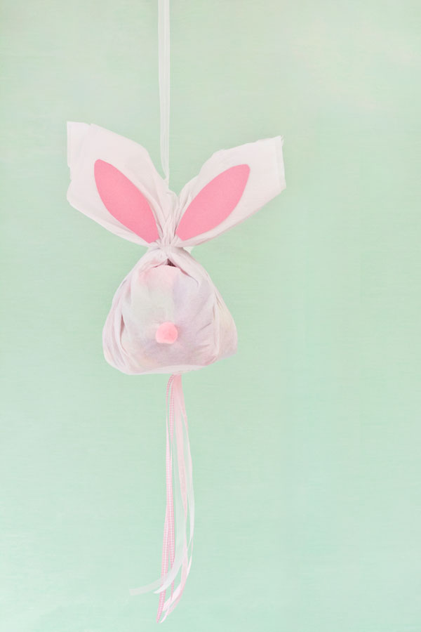 Pull style diy Easter bunny pinata perfect for little ones.