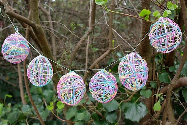 Sassy Easter egg yarn garland.